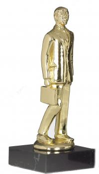 Manager Skulptur Award  in Gold auf Marmorsockel